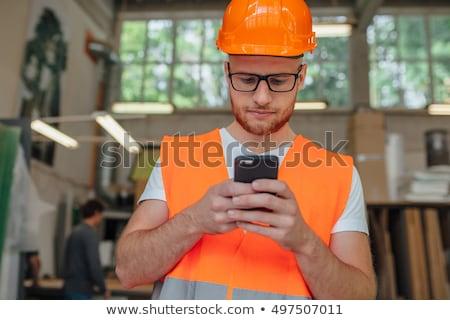 エンジニア 話し 携帯電話 建設現場 働いている人 男 ストックフォト © diego_cervo