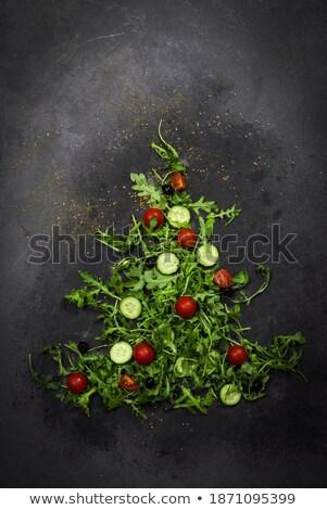 огурцы свежие базилик крошечный листьев тень Сток-фото © maxsol7
