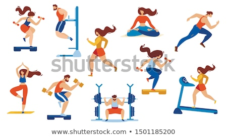 Stock photo: Man Sportive Activities Set Vector Illustration