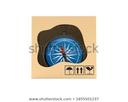 cartão · navegação · bússola · branco · quadro - foto stock © inxti