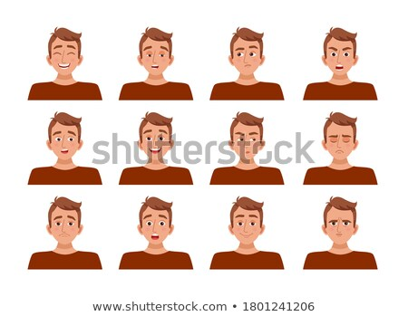 Male and female facial expression Stock photo © colematt
