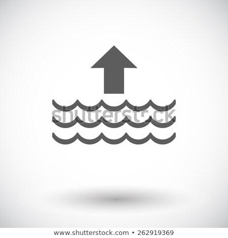 Stock photo: High tide single flat icon.