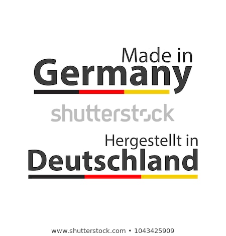Two simple vector symbols Made in Germany, signs with the German tricolor isolated on white backgrou Stock photo © kurkalukas
