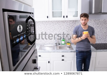 Close-up Of An Oven With Voice Recognition Function Stock photo © AndreyPopov