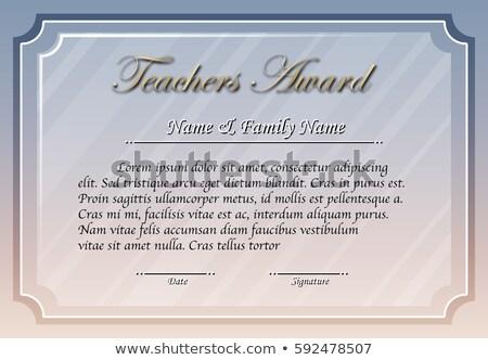 Insegnante premio modello grigio colore illustrazione Foto d'archivio © colematt