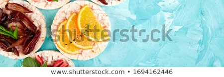 Easy breakfast concept.  Rice Crisp bread healthy snack  stock photo © Illia