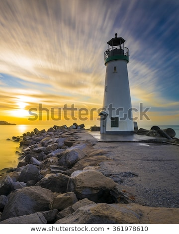 santa cruz walton lighthouse in the morning stock photo © hanusst