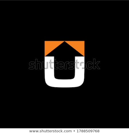 red black u letter u logo icon vector symbol Stock photo © blaskorizov