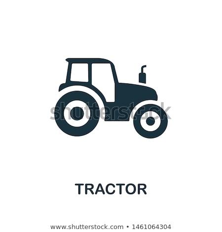 Trator ícone logotipo vetor elemento símbolo Foto stock © blaskorizov