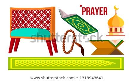 Gebed moslim vector rozenkrans moskee geïsoleerd Stockfoto © pikepicture