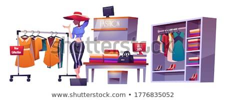 супермаркета пусто продавец вектора кассир Полки Сток-фото © robuart
