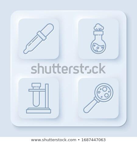 Reageerbuis drop illustratie Geel vloeibare verschillend Stockfoto © lenm