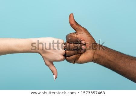 handen · tonen · beneden · borden - stockfoto © andreypopov