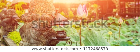 Templo bali ilha Indonésia luz solar bandeira Foto stock © galitskaya