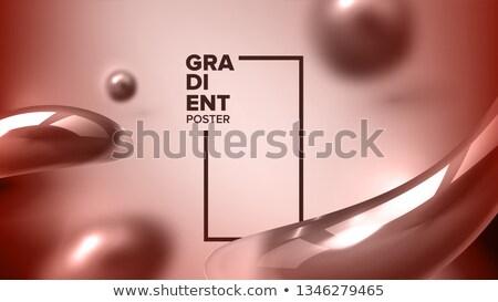 Résumé liquide fluide vecteur identité forme Photo stock © pikepicture