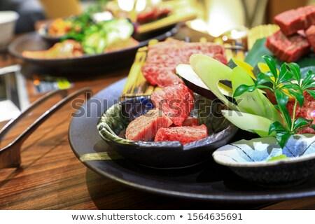 деревянный · стол · продовольствие · корова · ресторан - Сток-фото © daboost