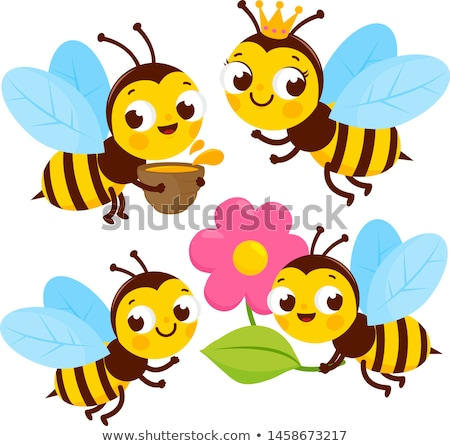 Queen bee and worker bee characters Stock photo © colematt