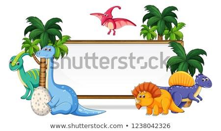 Molti dinosauro illustrazione legno abstract Foto d'archivio © colematt