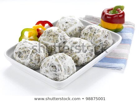 Butchers putting spices in minced meat Stock photo © Kzenon