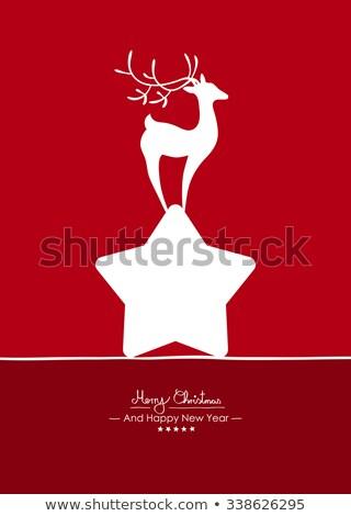 Witte vrolijk herten reekalf vector Stockfoto © robuart