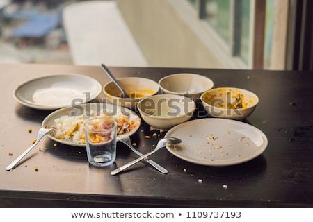 pasta · blu · tavolo · da · cucina · tavola · grano · cottura - foto d'archivio © galitskaya