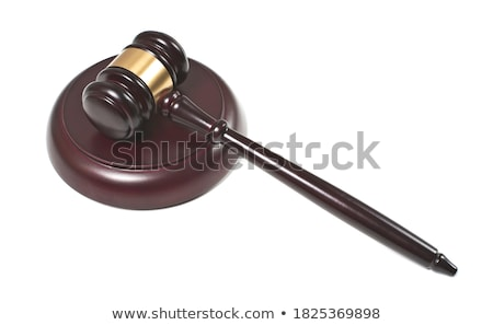 gavel and sound block of justice law and lawyer working on woode photo stock © snowing