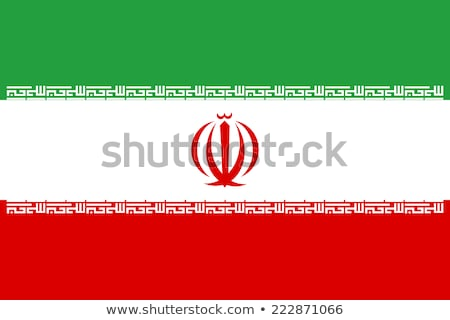 Iran flag, vector illustration on a white background Stock photo © butenkow