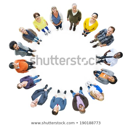 Multi-ethnic People Standing In Circle Stock photo © AndreyPopov