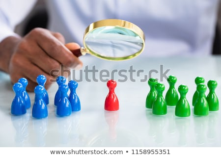Colorful Pawns On The Reflective Desk Stock photo © AndreyPopov
