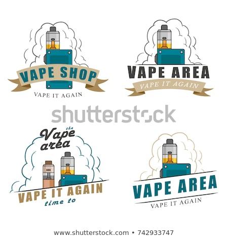 Color vintage vape, e-cigarette emblem Stock photo © netkov1