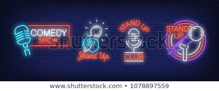 Heldere banner stand omhoog show club Stockfoto © pikepicture