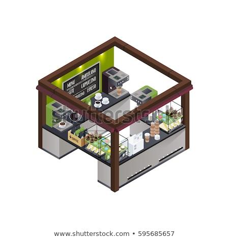 coffeeshop · interieur · cafe · restaurant · beker · espresso - stockfoto © tele52