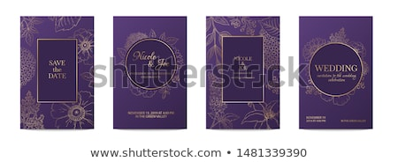 royal wedding card invitation with golden glitter effect Stock photo © SArts