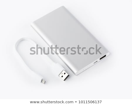 Charging the smartphone with a power bank Stock photo © magraphics