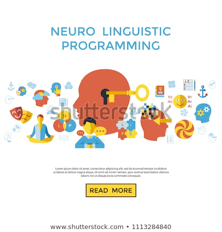 Digital vector neuro linguistic programming Stock photo © frimufilms