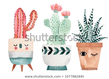 Cute plant cartoon hand drawn style stock photo © amaomam