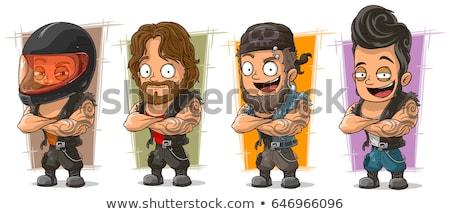Cartoon człowiek odizolowany ilustracja komiks Zdjęcia stock © tiKkraf69