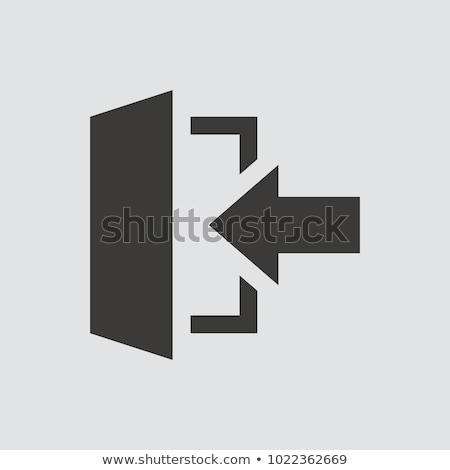Kijárat ikon fényes gomb terv felirat Stock fotó © angelp