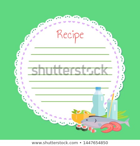 Empty Cookbook, Sushi and Fish, Japan Food Vector Stock photo © robuart