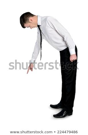 большой деловой человек глядя малый бизнес человека указывая Сток-фото © wavebreak_media