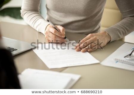 Mão enchimento hipoteca aplicação forma Foto stock © AndreyPopov