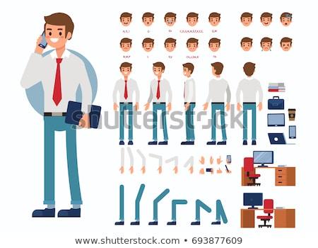 Biznesmen charakter generator wektora różny emocje Zdjęcia stock © robuart