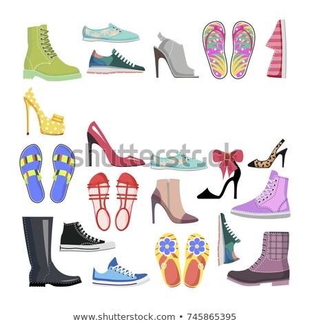 Super Sale. End Off Season. Shoes Set Illustration Stock photo © robuart