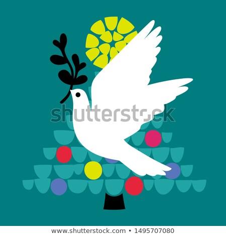 Рождества голубя мозаика Flying Сток-фото © ussr