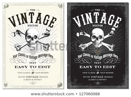 Stock photo: Vintage Halloween Invitation Background