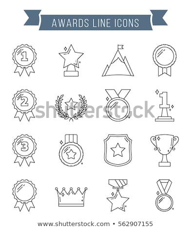 Babér koszorú ikon legelső kettő három Stock fotó © FoxysGraphic