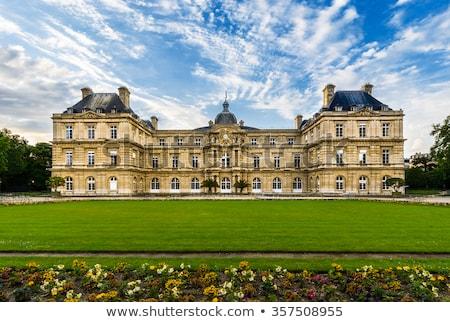 Luxemburgo palacio París sur fachada flor Foto stock © borisb17