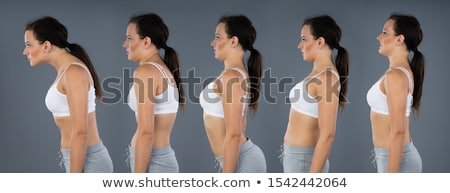 Woman With Lordosis, Kyphosis, Sway Back And Normal Curvature Stock photo © AndreyPopov