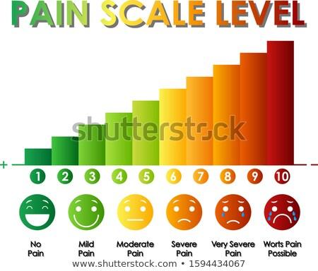 Diagram mutat fájdalom mérleg szint különböző Stock fotó © bluering