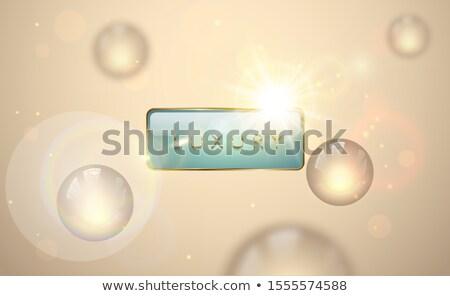 Vector luz lujo banner dorado texto Foto stock © Iaroslava